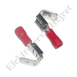Faston-rozváděč 6,3mm červený pro kab. 0,5-1,5mm2