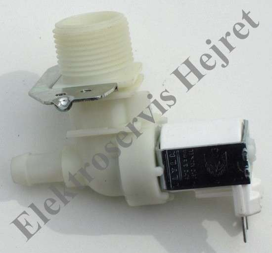 Napouštěcí elektroventil 1cestný rohový vývod 12mm 230V