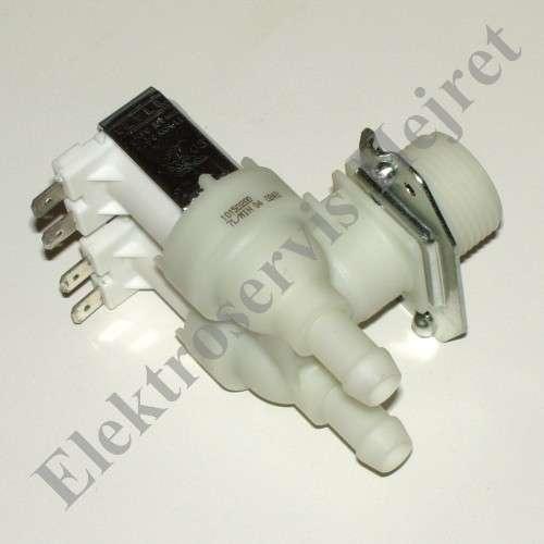 Napouštěcí elektroventil 2cestný rohový vývod 12mm 230V