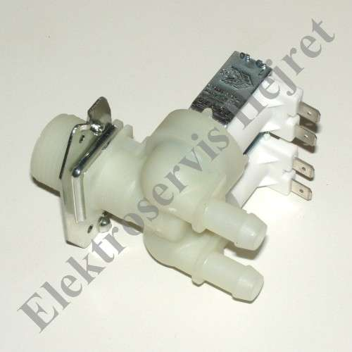 Napouštěcí elektroventil 2cestný rovný vývod 12mm 230V