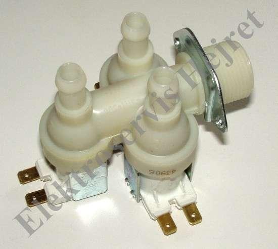 Napouštěcí elektroventil 3cestný rohový vývod 12mm 230V
