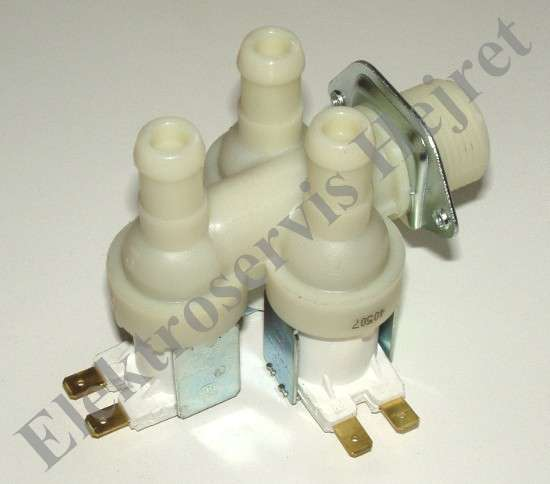 Napouštěcí elektroventil 3cestný rohový vývod 15mm 230V