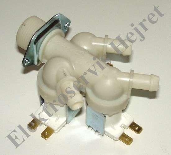 Napouštěcí elektroventil 3cestný rovný vývod 12mm 230V