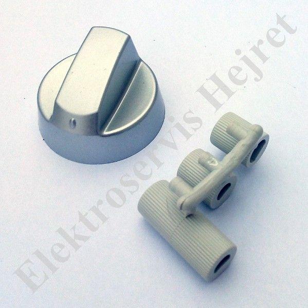 Knoflík stříbrný UNI s redukcemi