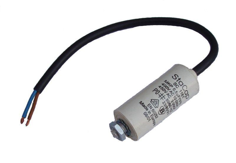 Kondenzátor 0,5uF, 400 - 500V se šroubem, vývod lanko
