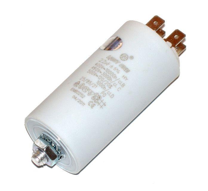 Kondenzátor 22uF, 400 - 500V se šroubem, vývod faston