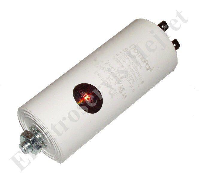 Kondenzátor 30uF, 400 - 500V se šroubem, vývod faston