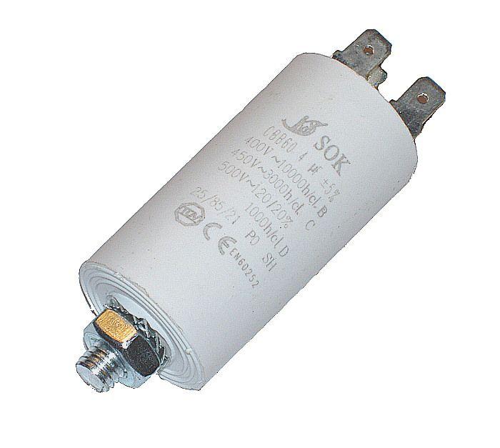 Kondenzátor 4uF, 400 - 500V se šroubem, vývod faston