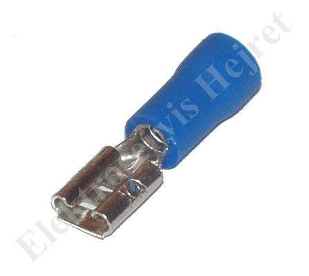 Konektor 4,8 mm zdířka modrá